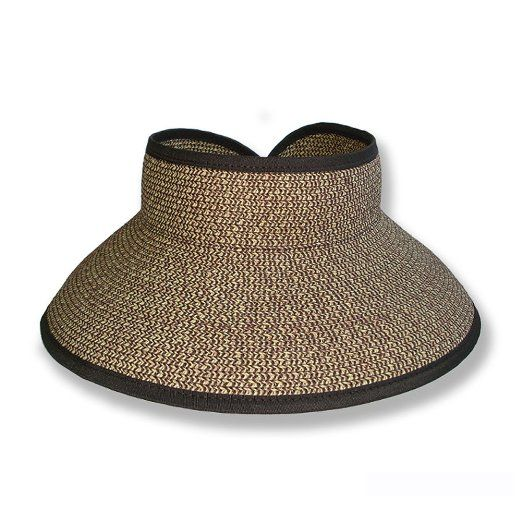 Amazon.com  San Diego Hat UPF 50+ Wide Brim Roll-up Sun Visor Hat (Multi  Brown)  Clothing  6d223cb8fda
