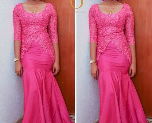 Latest & Modern Nigerian Lace Gown 6