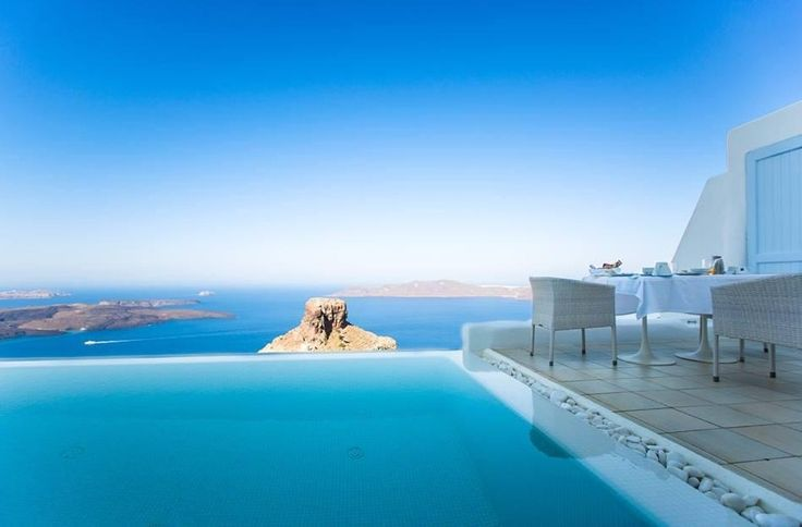 Pool suite breakfast with view by guest Happy15_12 at TripAdvisor  #AstraSuites‬ #Santorini‬   astrasuites.com