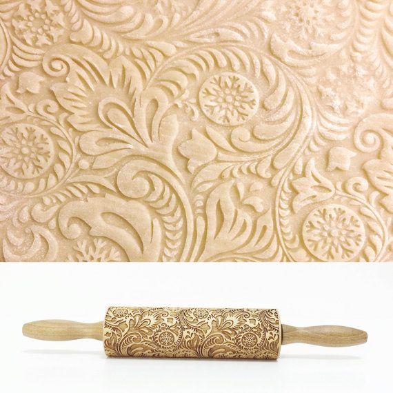 FROSTY PATTERN gaufrage rouleau à pâtisserie rouleau par Texturra
