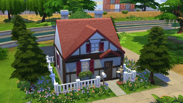 I made a gamecube style animal crossing house in the sims for Modern house acnl