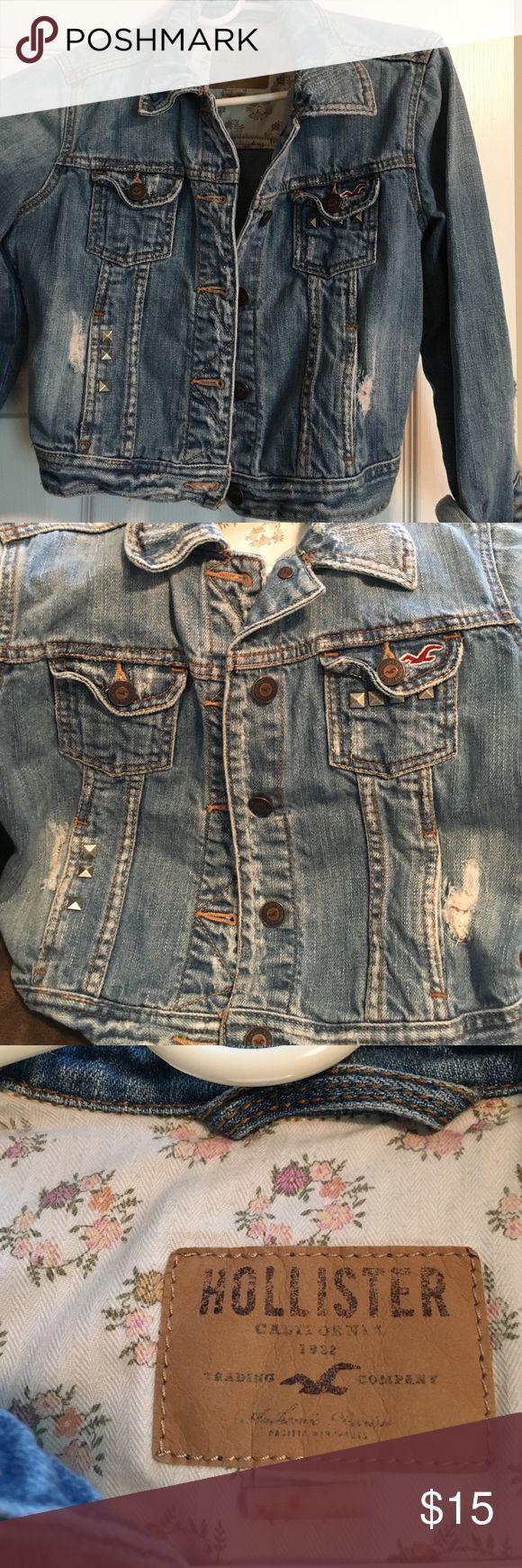Teen jacket Hollister blue jean jacket Hollister Jackets & Coats Jean Jackets