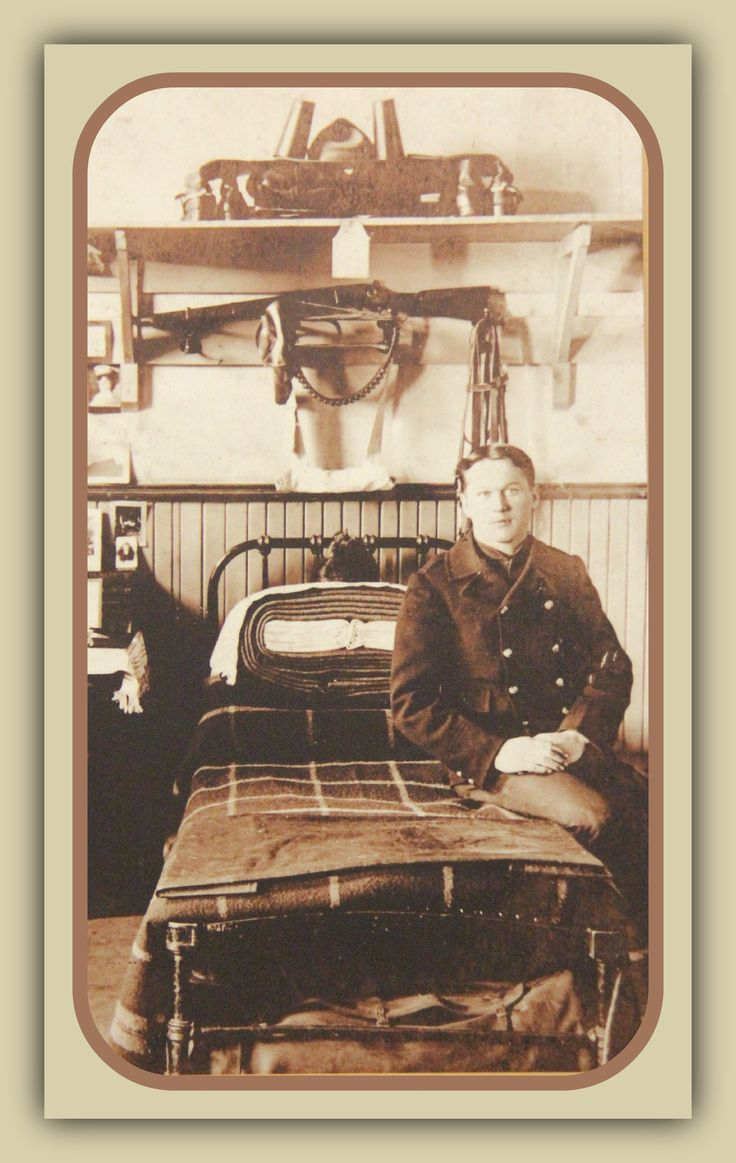 #RCMP member in the barracks at Fort Walsh