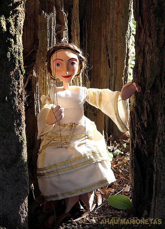 Marionettes Princess Obidos Gold Puppet by AhauMarionetasShop