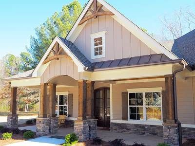plan 36031dk craftsman house plan with angled garage - Exterior House Plans