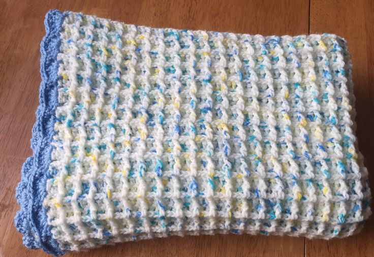 A personal favourite from my Etsy shop https://www.etsy.com/ca/listing/493697807/crochet-baby-blanket