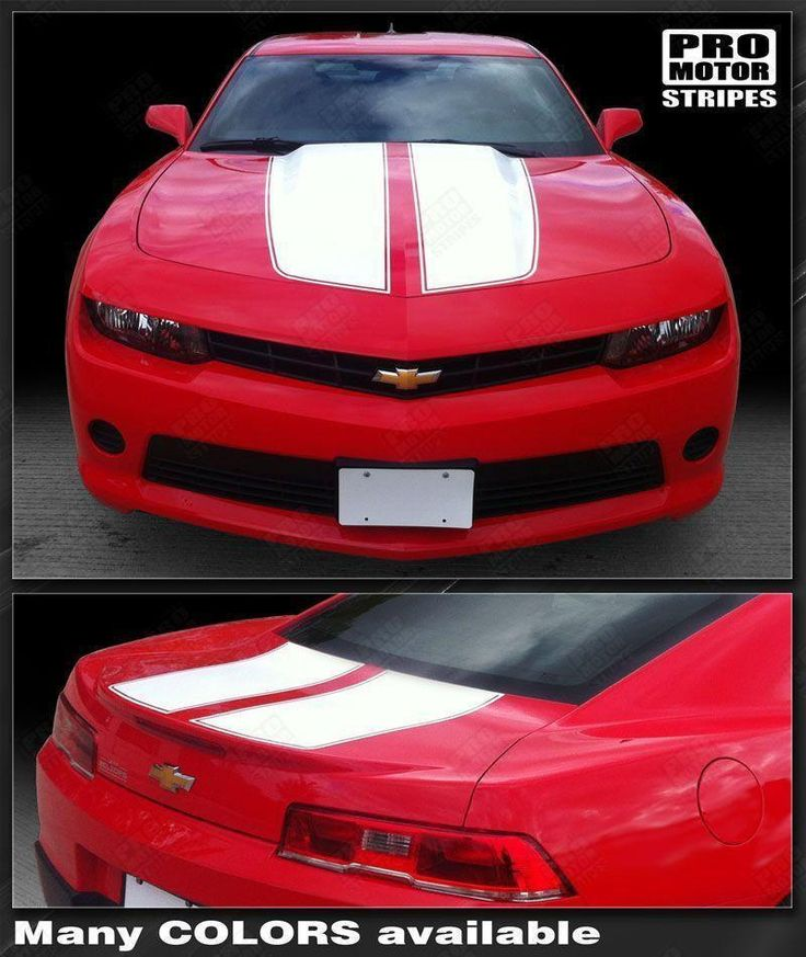 Chevrolet Camaro 2010-2015 Rally Racing Stripes Front & Rear Decals