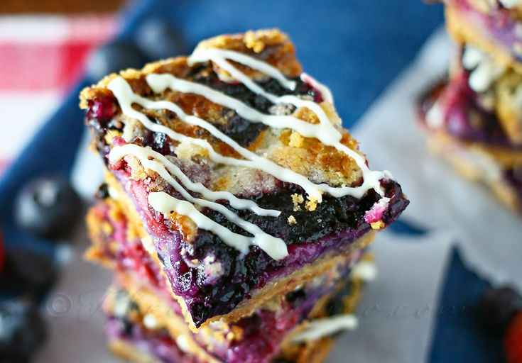 Red White & Blueberry Pie Bars from  www.kleinworthco.com