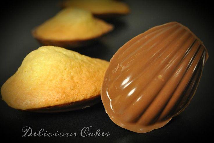 Madeleine coque au chocolat au lait
