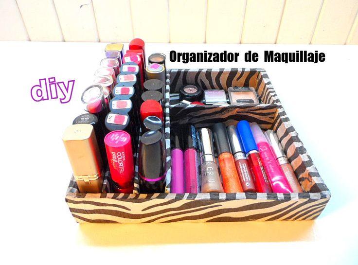 diy organizador de maquillaje makeup organicer