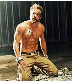 ryan reynolds blade trinity workout kneeling down