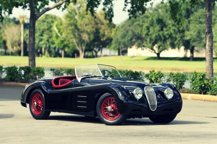 Jaguar XK120 M Roadster, one you'll like ;) colours omg, and the side shape is really cool, loving the spoked wheels