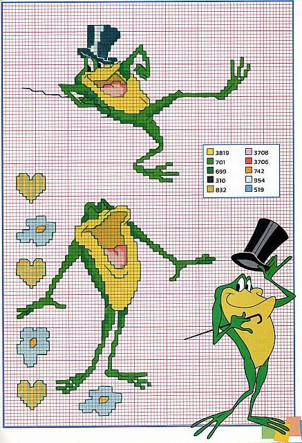 Michigan J Frog cross stitch patterns (2)