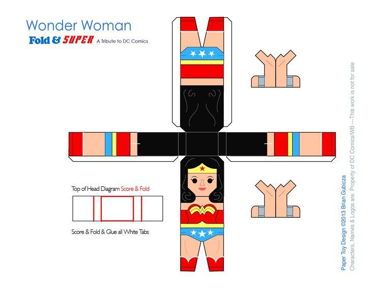 Wonder Woman Papercraft Template by Goobeetsa
