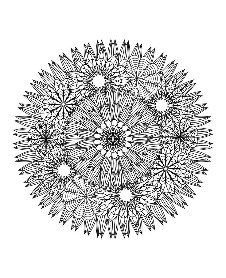 Mandala's Coloring Book For Adults  - Your Way To Relax
