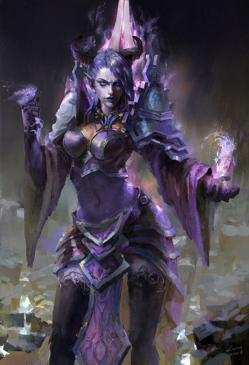 Draenei Mage. I think this is the artist's page…