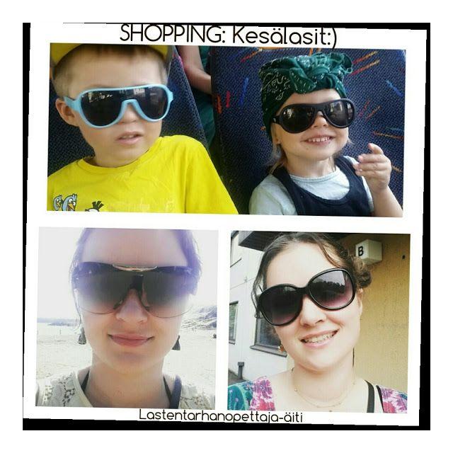 ostokset, lastentarvikkeet, aurinkolasit