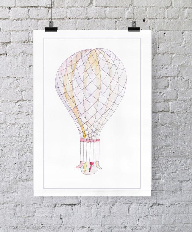 plakat balon fiolet