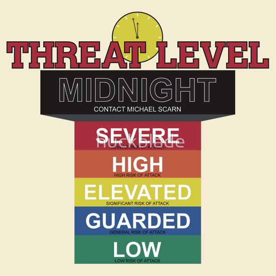 If I do not get a Threat Level Midnight shirt I will throw a fit!