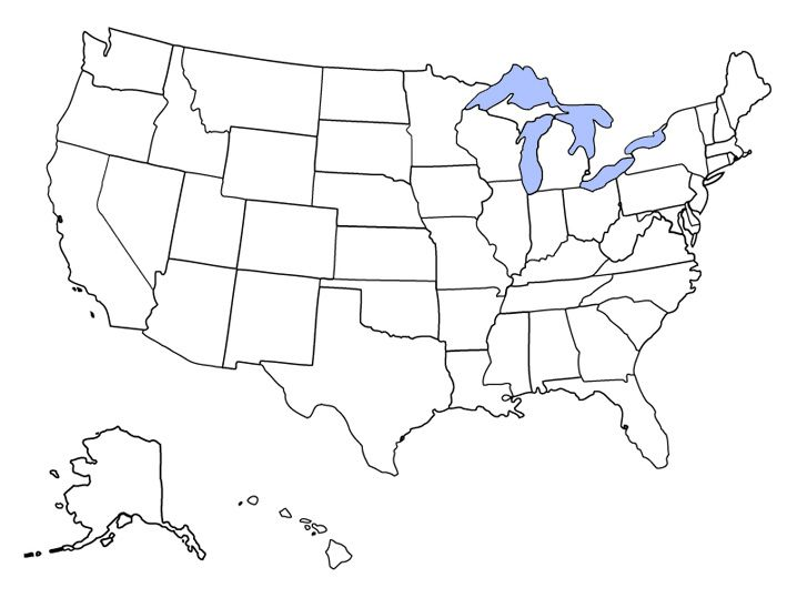 States Blank Page - Map of the us 50 states