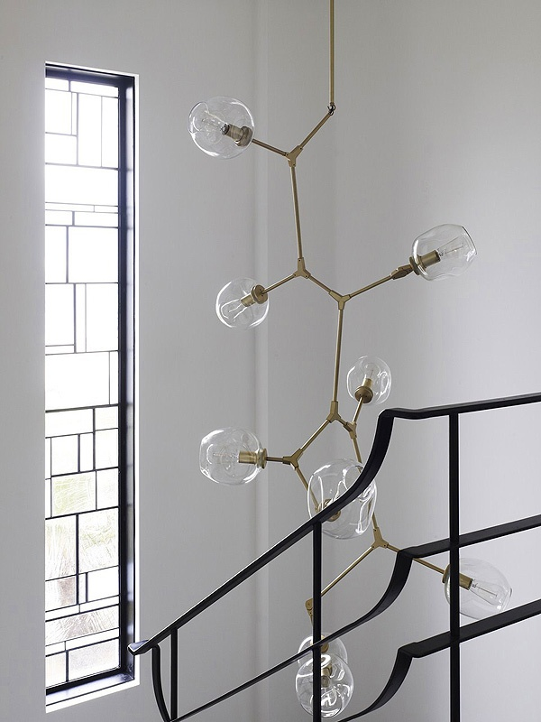 Suspended Lighting Fixture in Middle Park House, Melbourne, Australia. Chamberlain Javens Architects KPDO