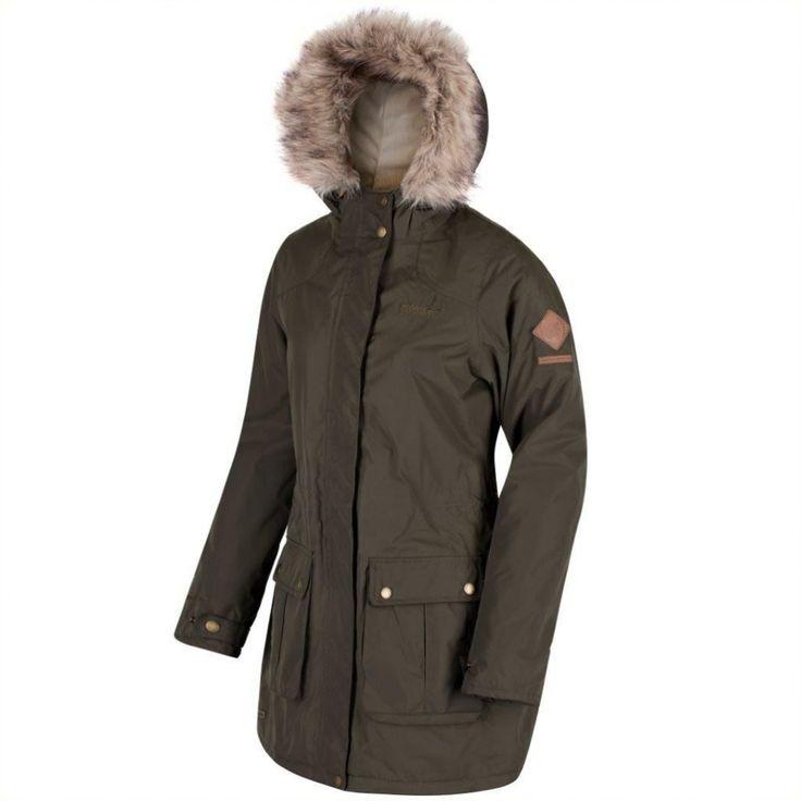 Regatta Schima II Womens Parker Jacket Dark Khaki