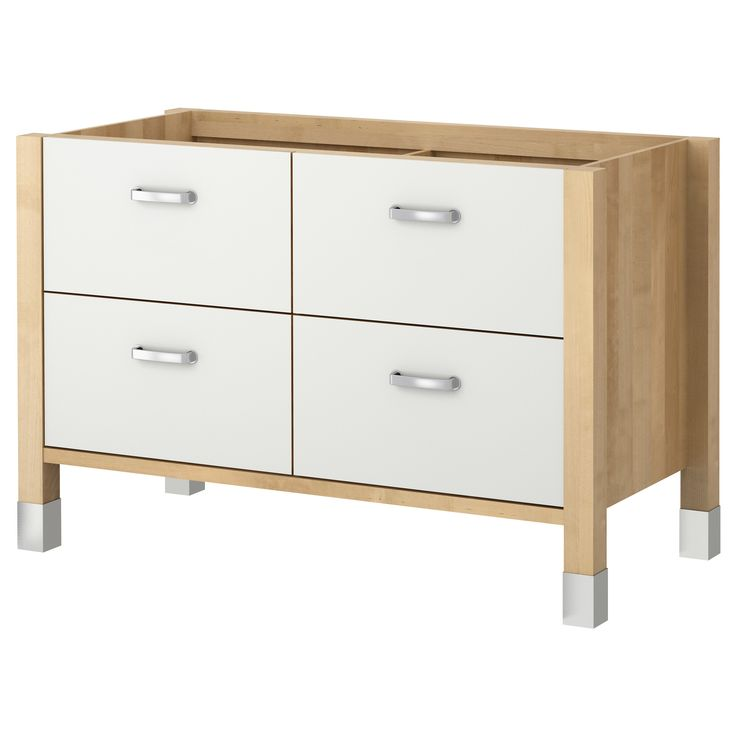 SEKTION Base Cabinet With 3 Drawers, White Förvara