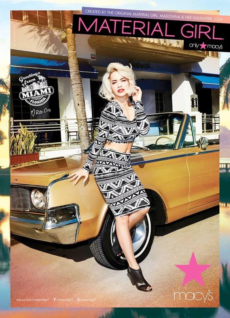 material girl spring 2014 campaign rita ora2 Rita Ora Takes Miami for Material Girls Spring 2014 Ads