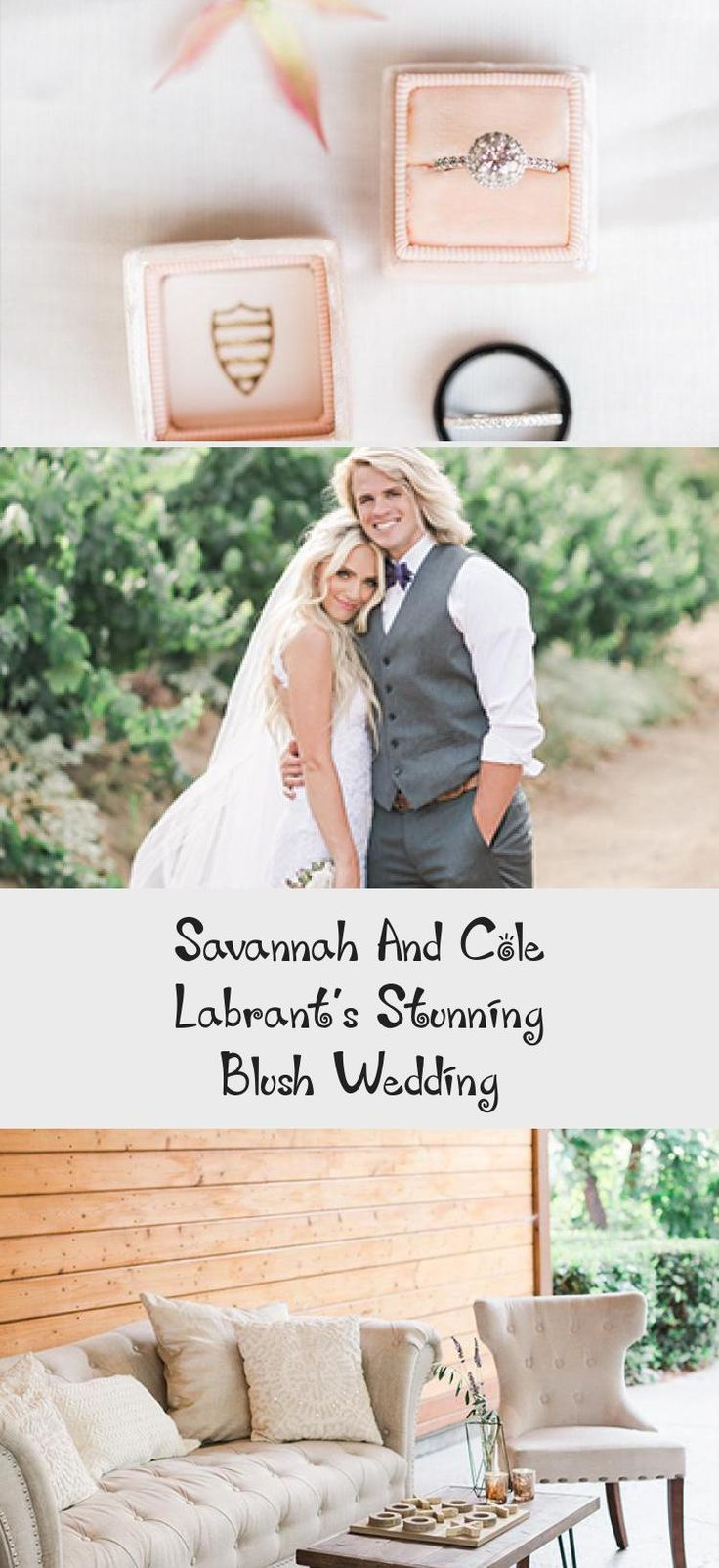 Savannah and Cole LaBrant's Stunning Blush Wedding - Inspired By This #BridesmaidDressesLace #SilverBridesmaidDresses #BridesmaidDresses2018 #BridesmaidDresses2019 #BurgundyBridesmaidDresses