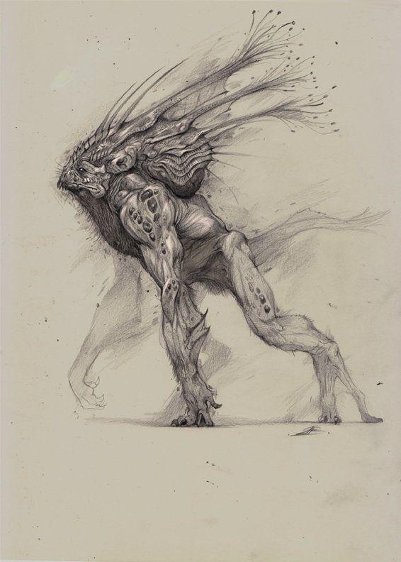 Creature sketch for today, Bobby Rebholz on ArtStation at https://www.artstation.com/artwork/creature-sketch-for-today
