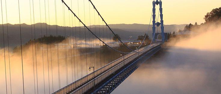 竜神大吊橋 公式サイト - 茨城県常陸太田市にある長さ本州一の吊橋です