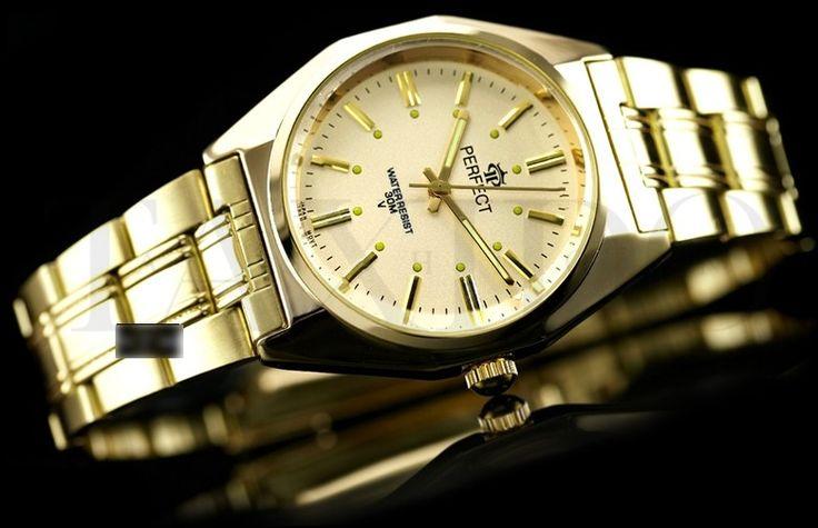Pánské hodinky - Perfect Midas, zlaté