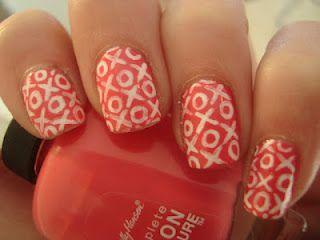 xoxo nails.: Nails Art, Nails Design, Valentines Nails, Xoxo Nails, Nailss 3, Nails Polish, Valentines Day Nails, Nails Hair Beautiful, Art Nails