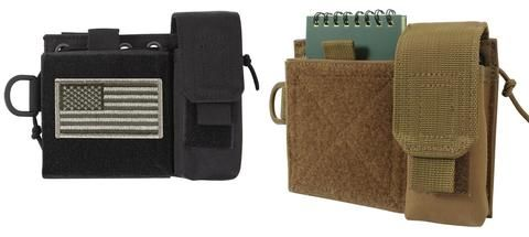 Administrative Pouch - MOLLE w/ Cell,Mag Pouches - Black or Brown