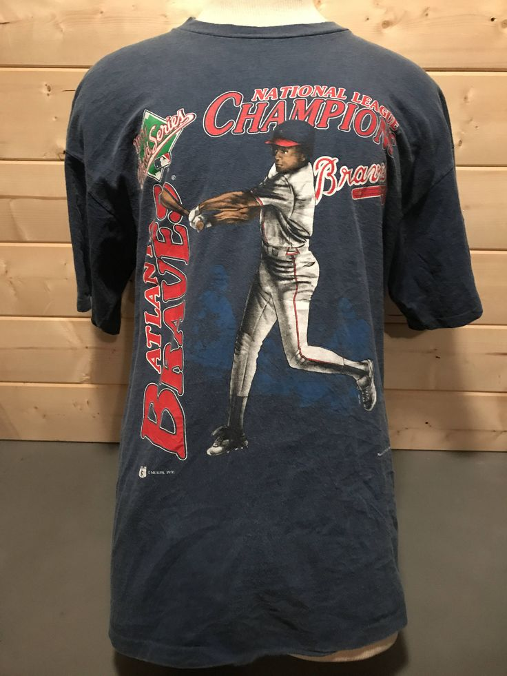 Vintage 1990's Atlanta Braves Cartoon T-Shirt MLB Made in USA by 413productions on Etsy