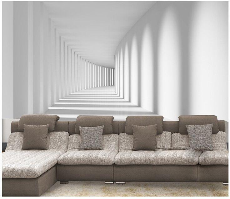 Custom 3D Stereoscopic Promenade Wallpaper Mural For Living Room Sofa TV Backdrop Waterproof Vinyl Modern