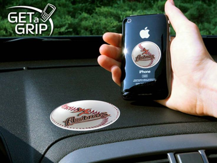 Houston Astros 'Get a Grip' Cell Phone Holder (Set of 2)