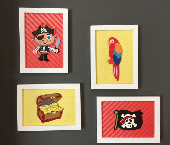 Pirate Baby Room Decor by YayBabyCreations on Etsy