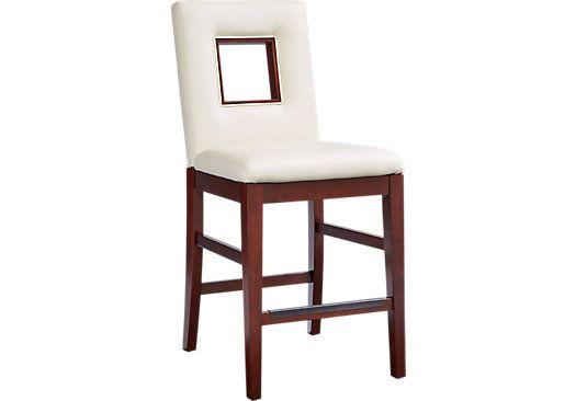 picture of Sofia Vergara Savona Ivory Upholstered Counter Height Stool from Barstools Furniture