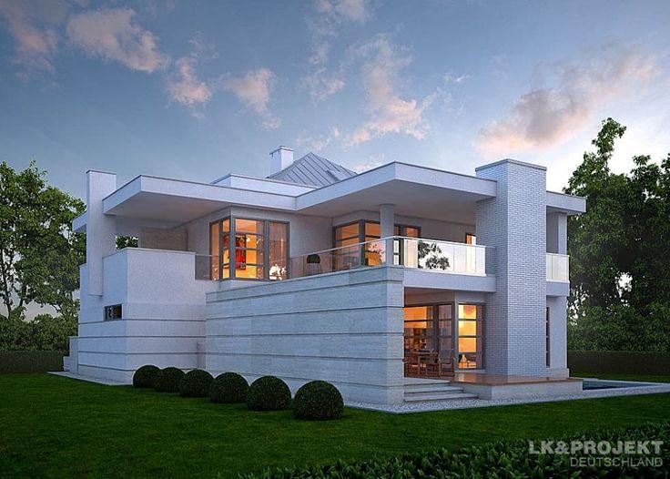 ein elegantes einfamilienhaus moderne huser von lkprojekt gmbh - Moderne Huser 2015