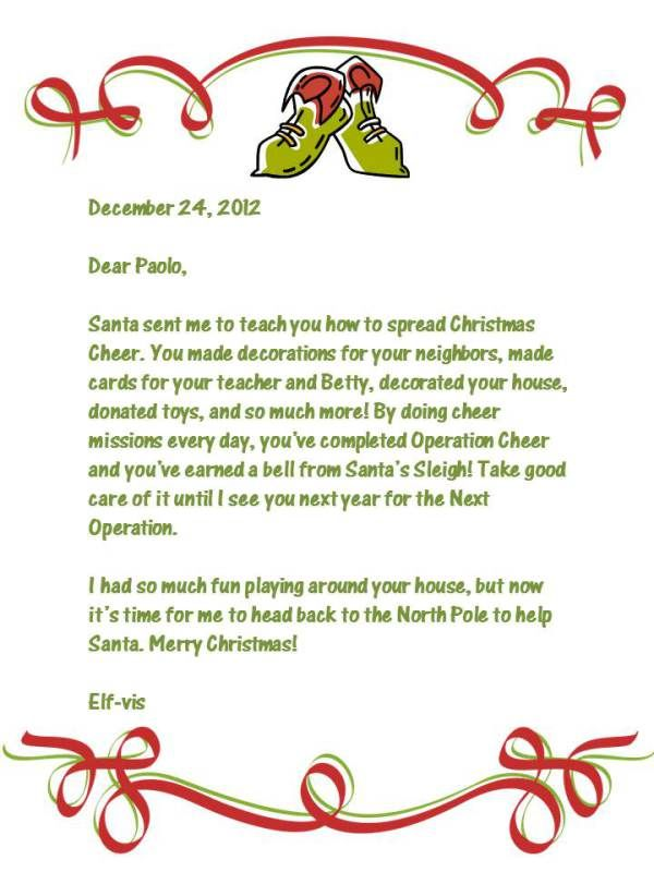 Top  Best Elf Goodbye Letter Ideas On   Elf Ideas