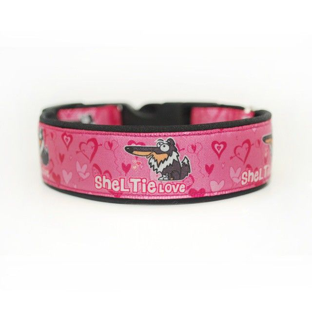 Obojek Blackberry | Collar by Blackberry #sheltie #pink #love #collar #design #blackberry #ruzova #obojek #heart #srdce
