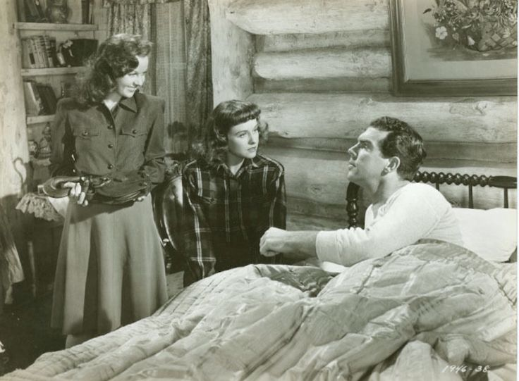 "Susan Hayward, Paulette Goddard and Fred MacMurray in ""The Forest Rangers"""