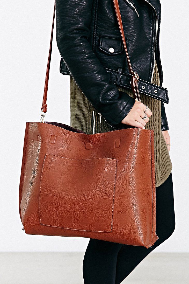 Reversible Faux Leather Tote Bag Needed Immediately Pinterest Vegan Totes And