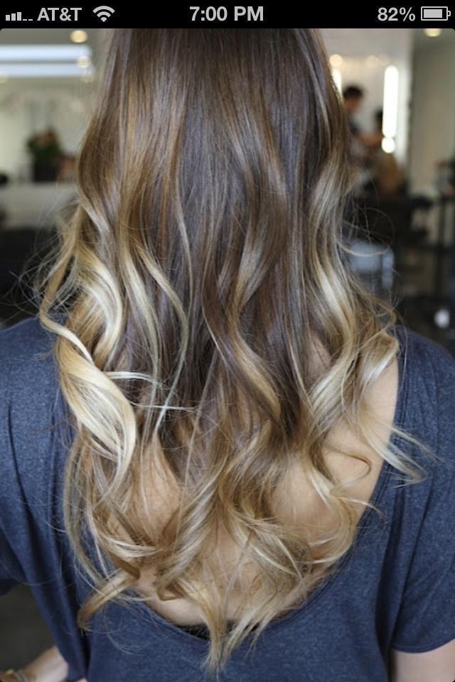 Ombré hair for brunets