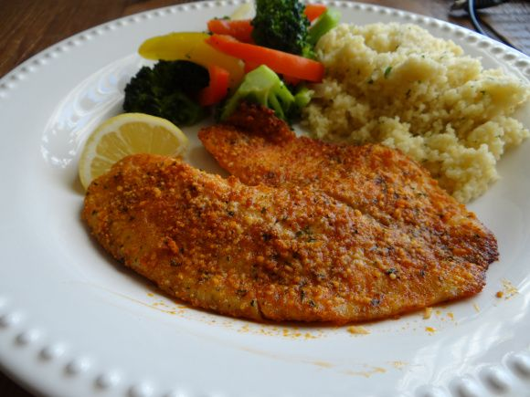 ... | Parmesan Crusted Tilapia, Crusted Tilapia and Parmesan Crusted