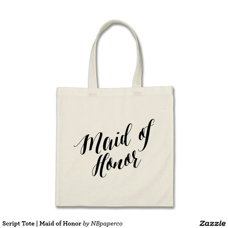 Script Tote | Maid of Honor