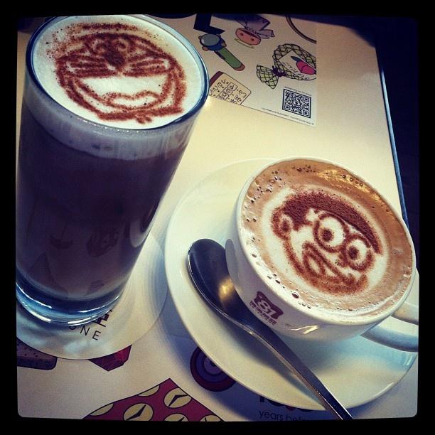i had my first latte cuz of doraemon :) - @queb | Webstagram