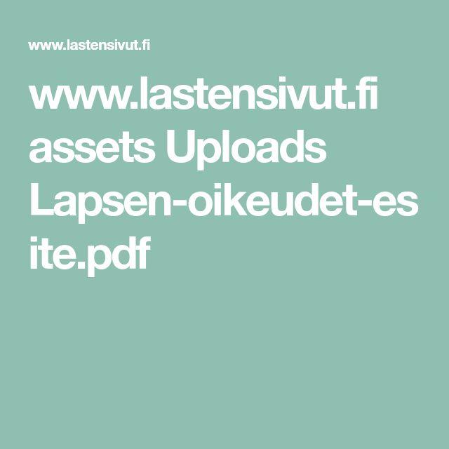 www.lastensivut.fi assets Uploads Lapsen-oikeudet-esite.pdf