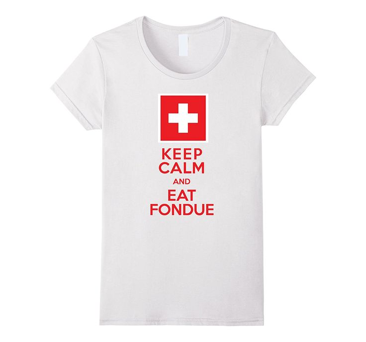 Swiss Flag Fondue Party Funny T-Shirt